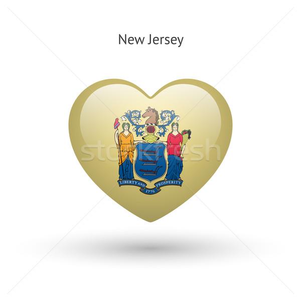Amore New Jersey simbolo cuore bandiera icona Foto d'archivio © tkacchuk