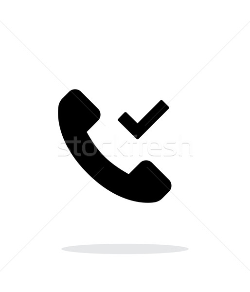Phone call accept simple icon on white background. Stock photo © tkacchuk