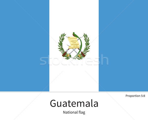 Bandeira Guatemala corrigir elemento cores educação Foto stock © tkacchuk