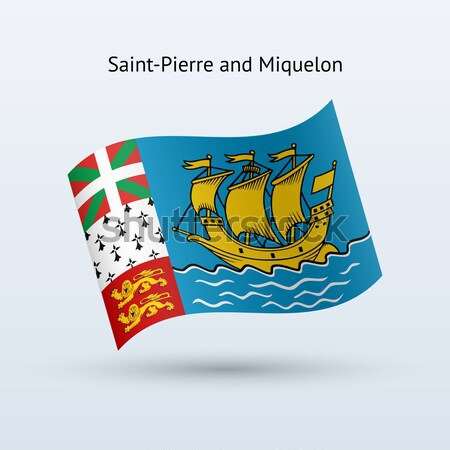 Credit card with Saint-Pierre and Miquelon flag background for bank, presentations, business. Isolat Stock photo © tkacchuk
