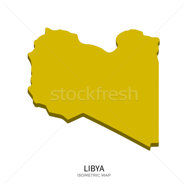 Isometric map of Libya detailed vector illustration Stock photo © tkacchuk