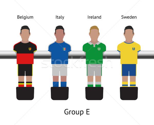 Tabela jogo de futebol jogador de futebol conjunto Bélgica Foto stock © tkacchuk