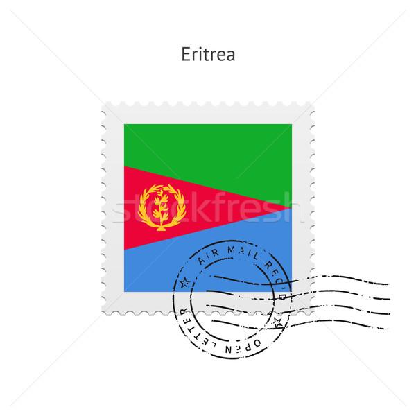 Эритрея флаг почтовая марка белый знак письме Сток-фото © tkacchuk