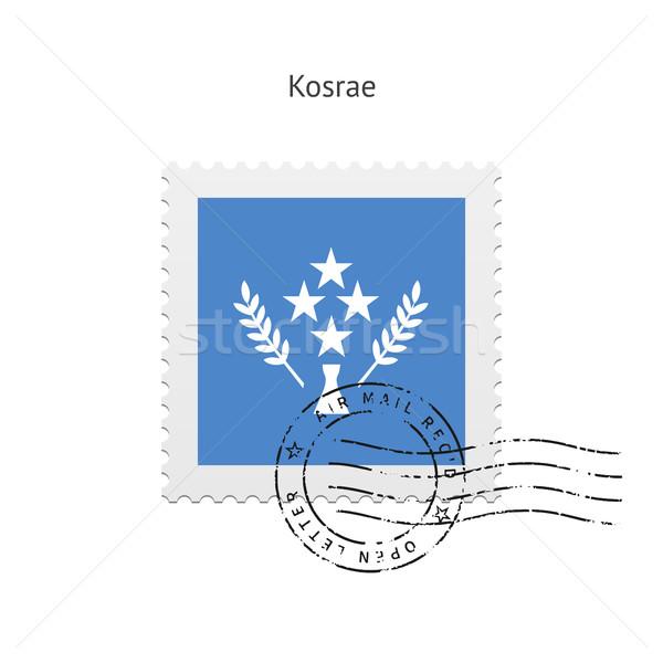 Stock photo: Kosrae Flag Postage Stamp.