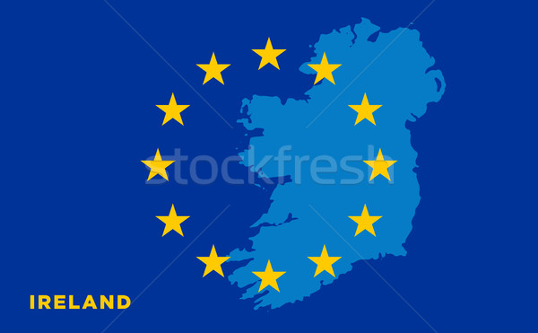 Flag of European Union with Ireland on background Stock photo © tkacchuk