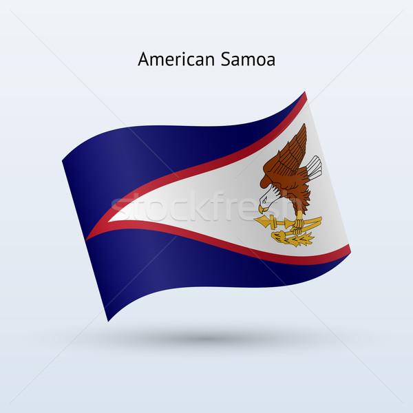 Samoa Americana bandeira forma cinza viajar Foto stock © tkacchuk