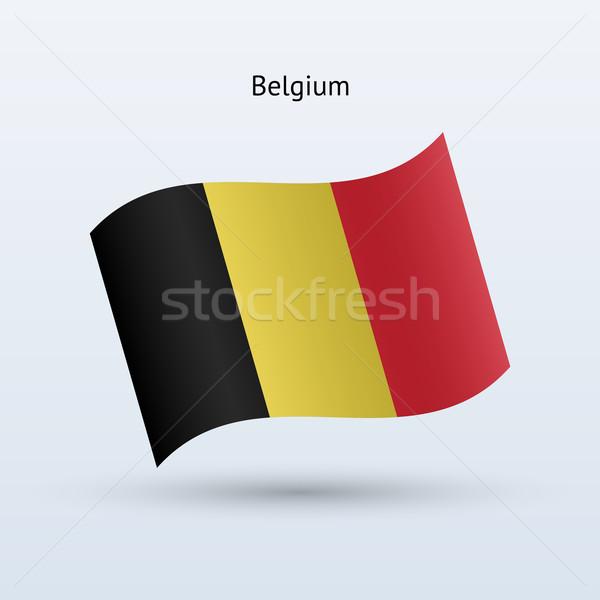 Bélgica bandera forma gris signo Foto stock © tkacchuk