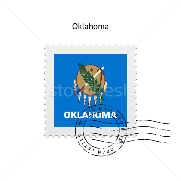 State of Oklahoma flag postage stamp. Stock photo © tkacchuk