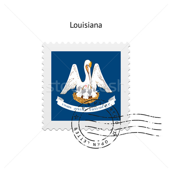 State of Louisiana flag postage stamp. Stock photo © tkacchuk