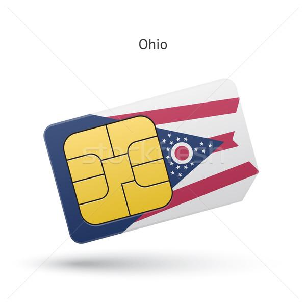 Ohio telefon kártya zászló üzlet technológia Stock fotó © tkacchuk