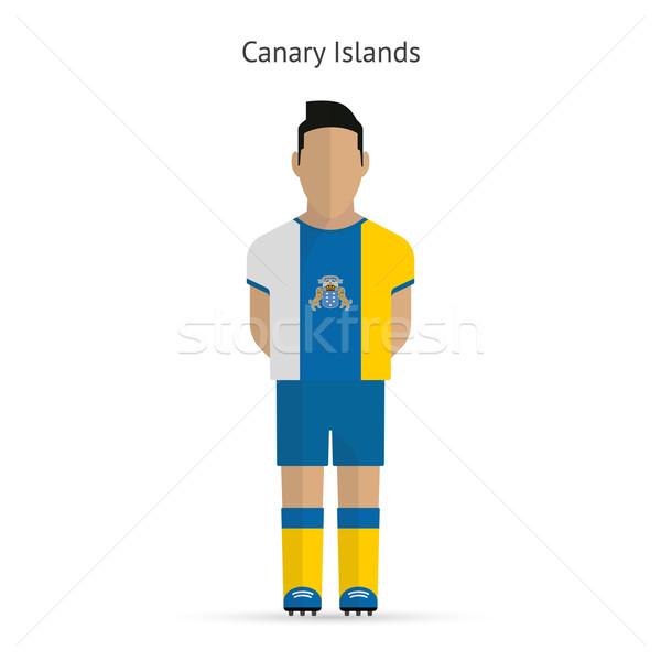 カナリア諸島 サッカー ユニフォーム 抽象的な フィットネス ストックフォト © tkacchuk