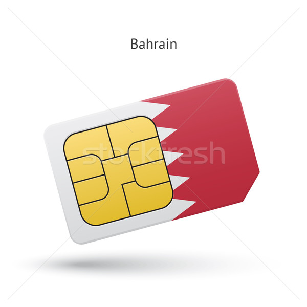 Bahrein telefone móvel cartão bandeira negócio projeto Foto stock © tkacchuk