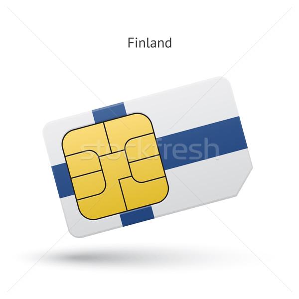 Finlandia teléfono móvil tarjeta bandera negocios diseno Foto stock © tkacchuk