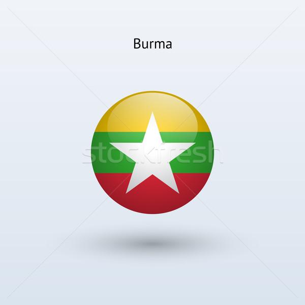 Burma round flag. Vector illustration. Stock photo © tkacchuk