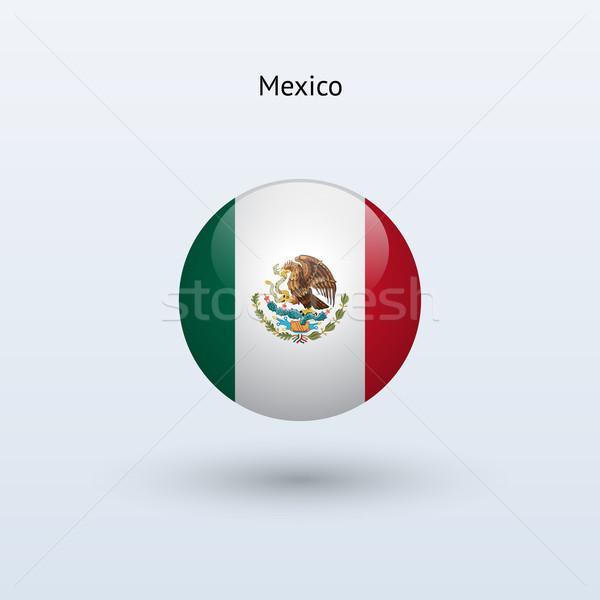 México bandera gris signo web viaje Foto stock © tkacchuk