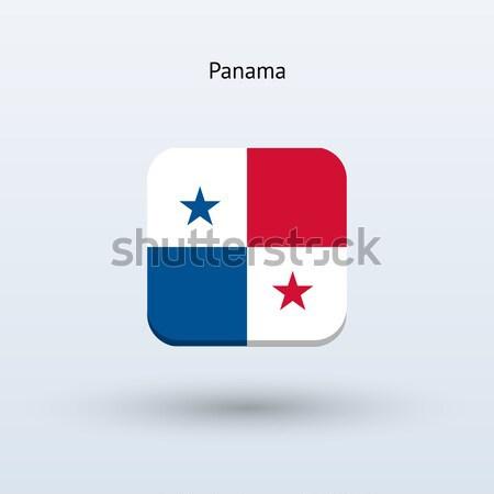 Panama zászló szürke felirat háló utazás Stock fotó © tkacchuk