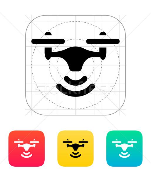 Wireless quadcopter icon. Stock photo © tkacchuk