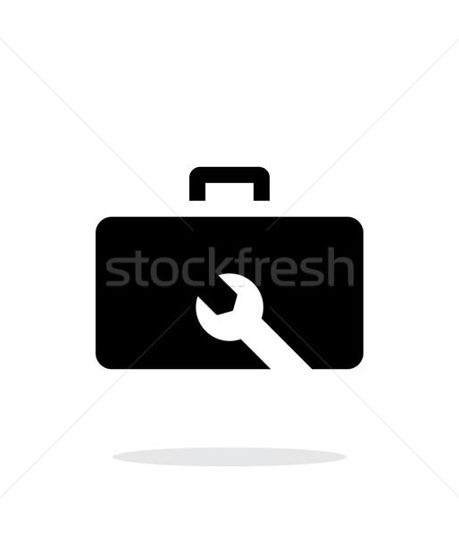 Drone repair kit box simple icon on white background. Stock photo © tkacchuk