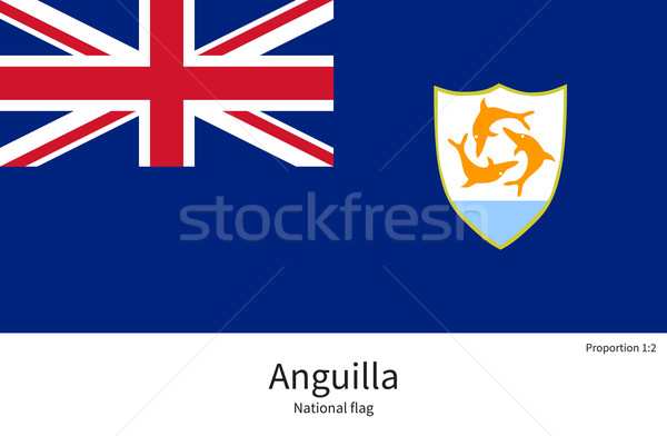 National flag of Anguilla with correct proportions, element, colors Stock photo © tkacchuk