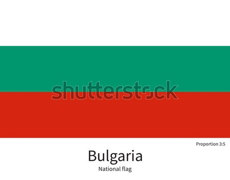 National flag of Bulgaria with correct proportions, element, colors Stock photo © tkacchuk