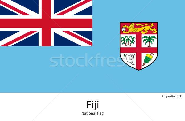 Bandeira Fiji corrigir elemento cores educação Foto stock © tkacchuk