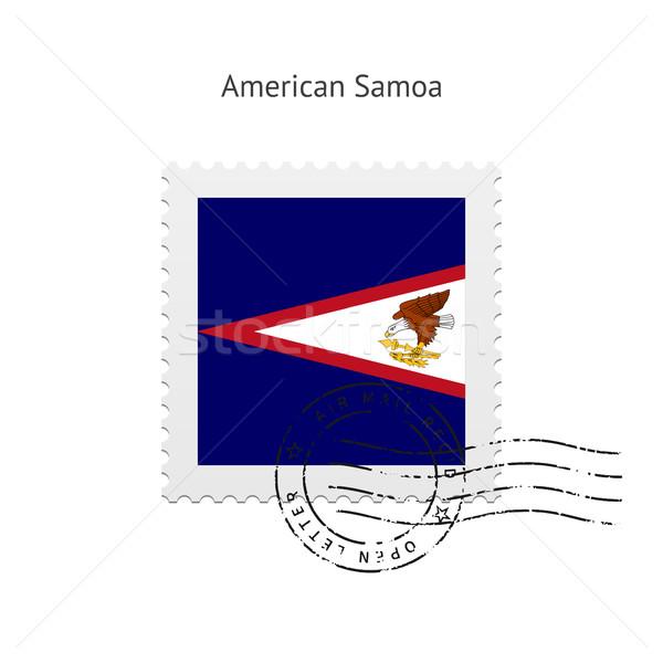 Американское Самоа флаг почтовая марка белый знак письме Сток-фото © tkacchuk