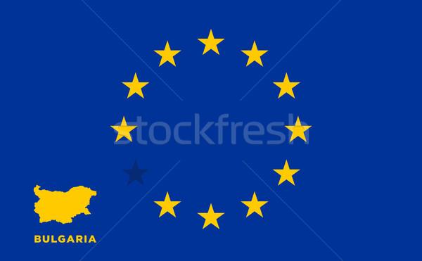 Eu vlag land europese unie lidmaatschap Stockfoto © tkacchuk