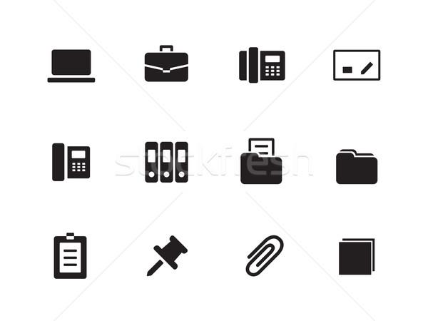Office icons on white background. Stock photo © tkacchuk