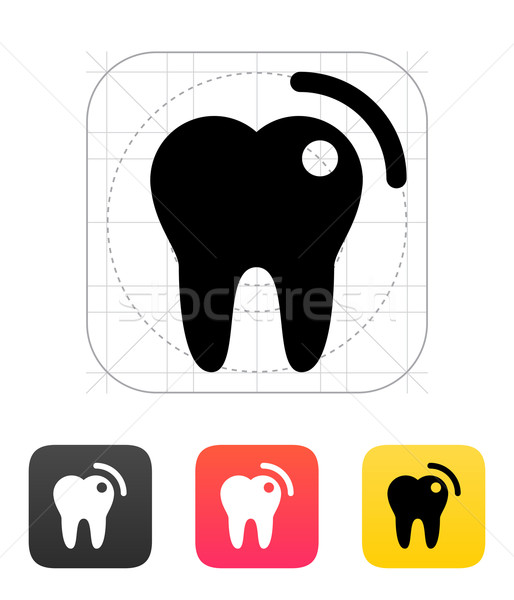 Tooth with caries icon. Stock photo © tkacchuk