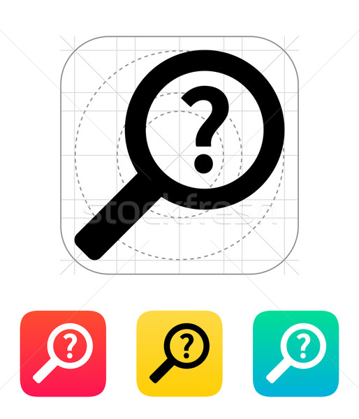 Help and FAQ search icon. Stock photo © tkacchuk