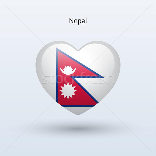 Amor Nepal símbolo corazón bandera icono Foto stock © tkacchuk