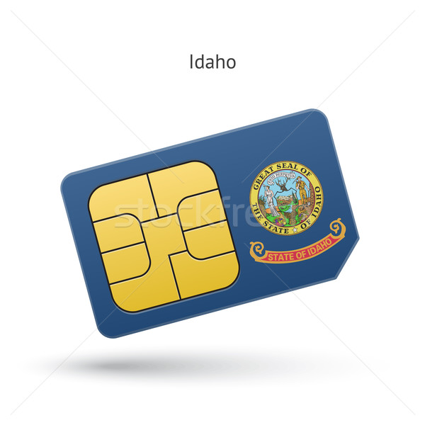 Idaho telefon kart bayrak iş teknoloji Stok fotoğraf © tkacchuk