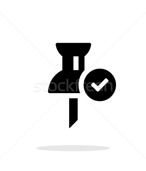Stock photo: Mapping check pin icon on white background.