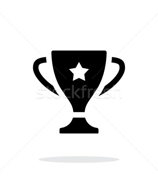 Favoriet beker icon witte ontwerp teken Stockfoto © tkacchuk