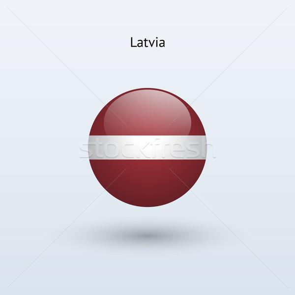 Letonia bandera gris signo web viaje Foto stock © tkacchuk