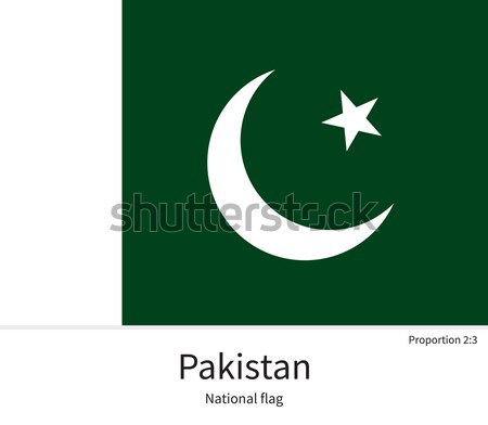 National flag of Pakistan with correct proportions, element, colors Stock photo © tkacchuk