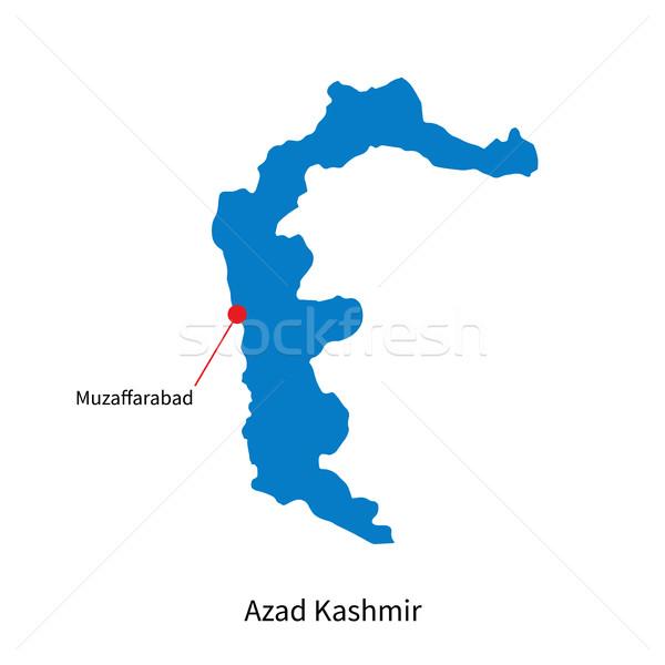 Detailed vector map of Azad Kashmir and capital city Muzaffarabad Stock photo © tkacchuk