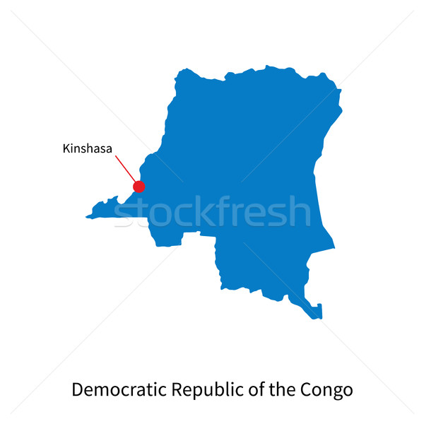 Harita demokratik cumhuriyet Kongo şehir ayrıntılı Stok fotoğraf © tkacchuk