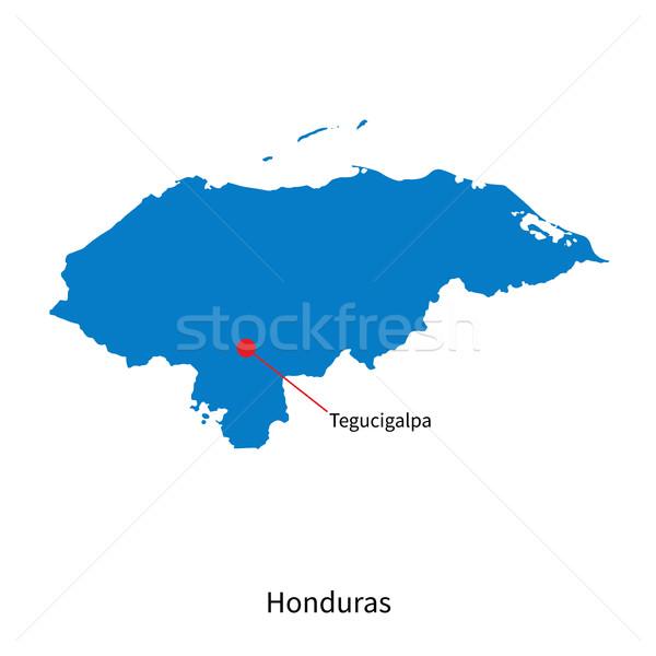 подробный вектора карта Гондурас город образование Сток-фото © tkacchuk
