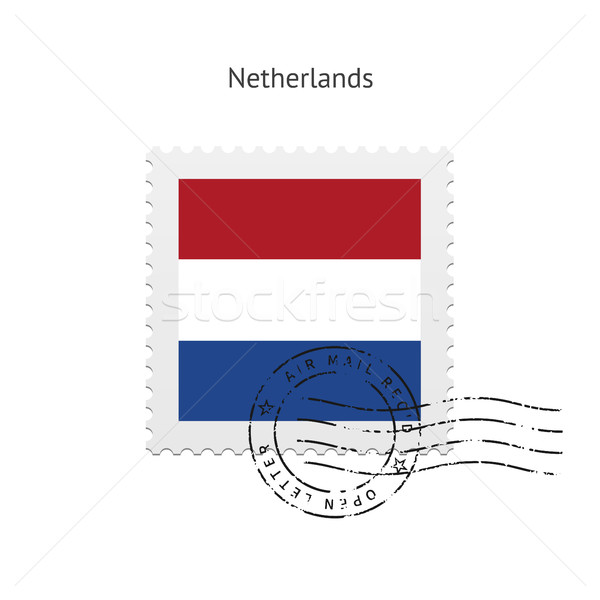 Netherlands Flag Postage Stamp. Stock photo © tkacchuk