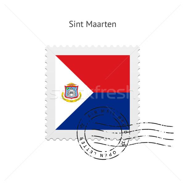 Sint Maarten Flag Postage Stamp. Stock photo © tkacchuk