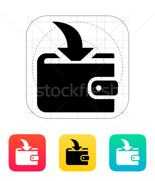 Incoming payment in wallet icon Stock photo © tkacchuk