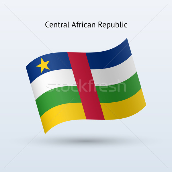 Central African Republic flag waving form. Stock photo © tkacchuk