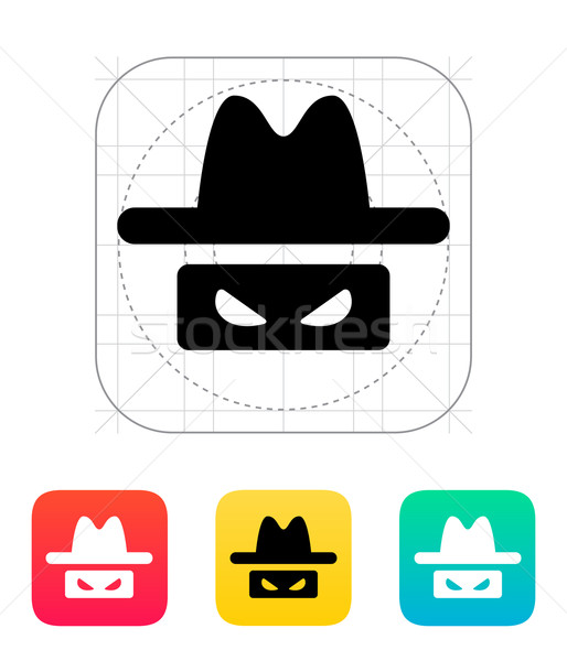 Espião ícone olho homem projeto segurança Foto stock © tkacchuk