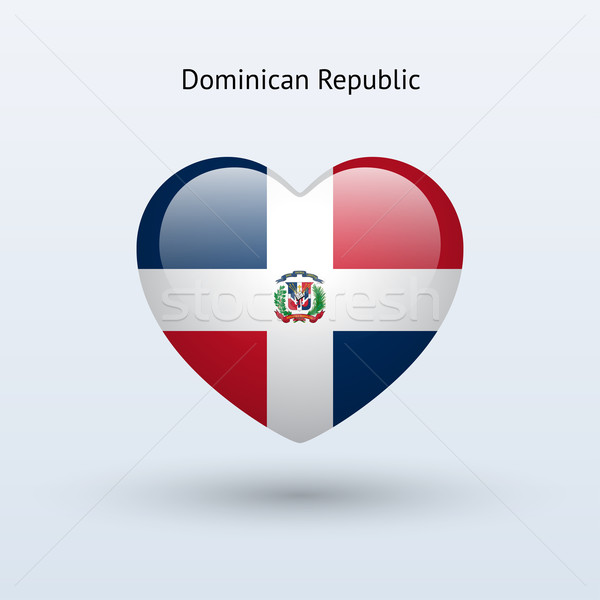 Love Dominican Republic symbol. Heart flag icon. Stock photo © tkacchuk