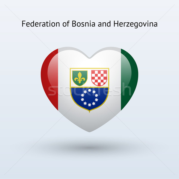 Amor Bosnia Herzegovina símbolo corazón bandera icono Foto stock © tkacchuk