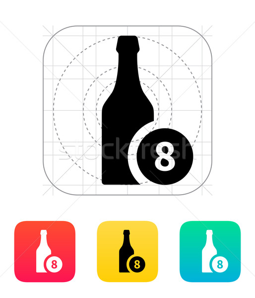 Beer bottle with number icon. Stock photo © tkacchuk