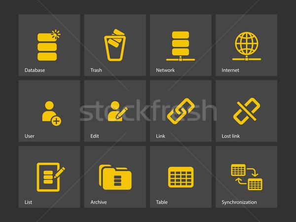 Bazy danych ikona projektu serwera bezpieczeństwa tabeli Zdjęcia stock © tkacchuk