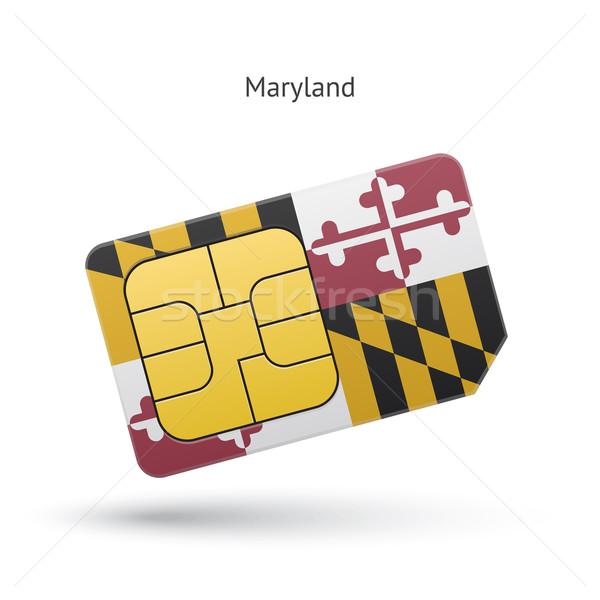 Мэриленд телефон карт флаг бизнеса технологий Сток-фото © tkacchuk