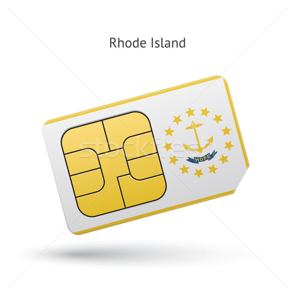 State of Rhode Island phone sim card with flag. Stock photo © tkacchuk